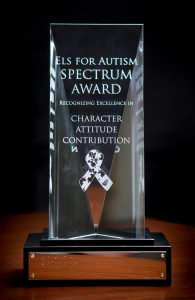 Els For Autism Spectrum Award